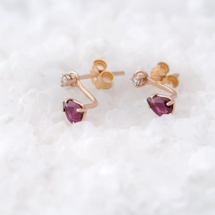 ear-jacket-pinkgold-rubies-pear-shape-earrings